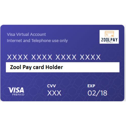 zool pay virtual visa card for internet shopping - Virtual Visa Card