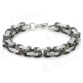 SHIYING SL00014 Stylish 316L Stainless Steel Bracelet - Silver + Black